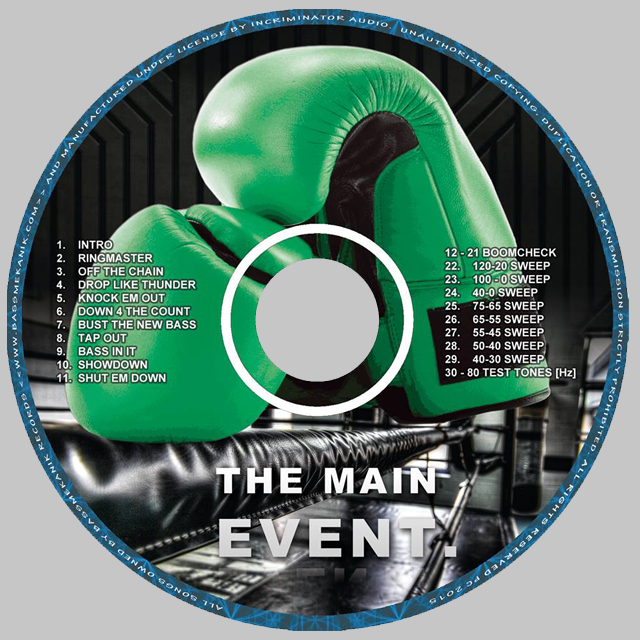 The Main Event, Bass Mekanik CD